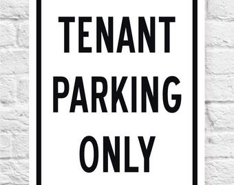 TENANT PARKING ONLY Sign | Apartment Sign | Price includes the shipping.