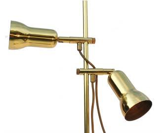 Floor lamp in brass 1980