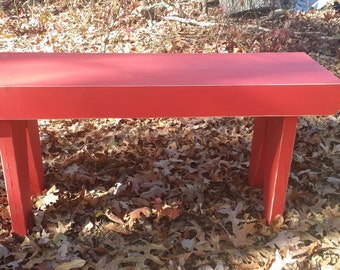 Red Bench Distressed