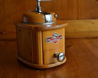 Coffee Grinder Vintage Antique KYM Manual Conical Burr Lap Mill