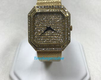 Vintage Collection Fabulous 18K Bueche Girod Diamond Lady Bracelet Wrist Watch