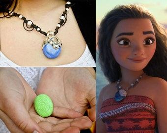 Moana necklace Heart of Te Fiti reproduction Necklace moana/Oceania fan Art Cosplay Collection