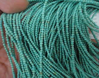 2mm turquoise round beads, 15.5 inch
