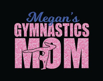 Gymnastics Mom Custom Iron On Decal