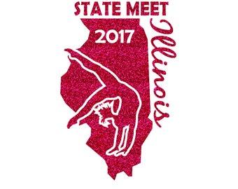 Illinois State Meet 2017 Iron On Decal