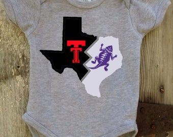 House Divided Texas Tech/TCU Onesie