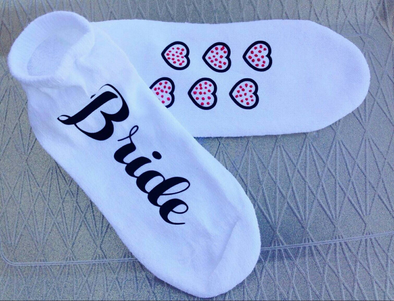 Bride Socks, Bride Gift, Wedding Socks, Bridal Party Gift, Nonslip ...