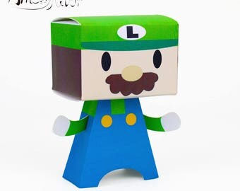 Mario Bros Favor Box Luigi Candy Box Boy Party Favors Gift Box Kids Birthday Party Supplies Decoration Event Party Supplies
