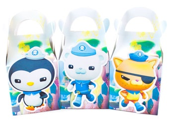 Octonauts Favor Box Candy Box Gift Box Cupcake Box Boy Kids Birthday Party Supplies Decoration Event Party Supplies