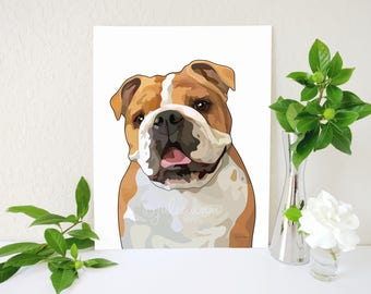 English Bulldog Art Print, English Bulldog Gifts, English Bulldog Art, Bulldog Wall Art, Dog Lover Gift, Dog Breed Decor, Dog Art, Dog Decor