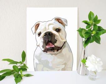 English Bulldog Art Print, English Bulldog Art, Bulldog Wall Art, English Bulldog Gifts, Dog Lover Gift, Dog Breed Decor, Dog Art, Dog Decor