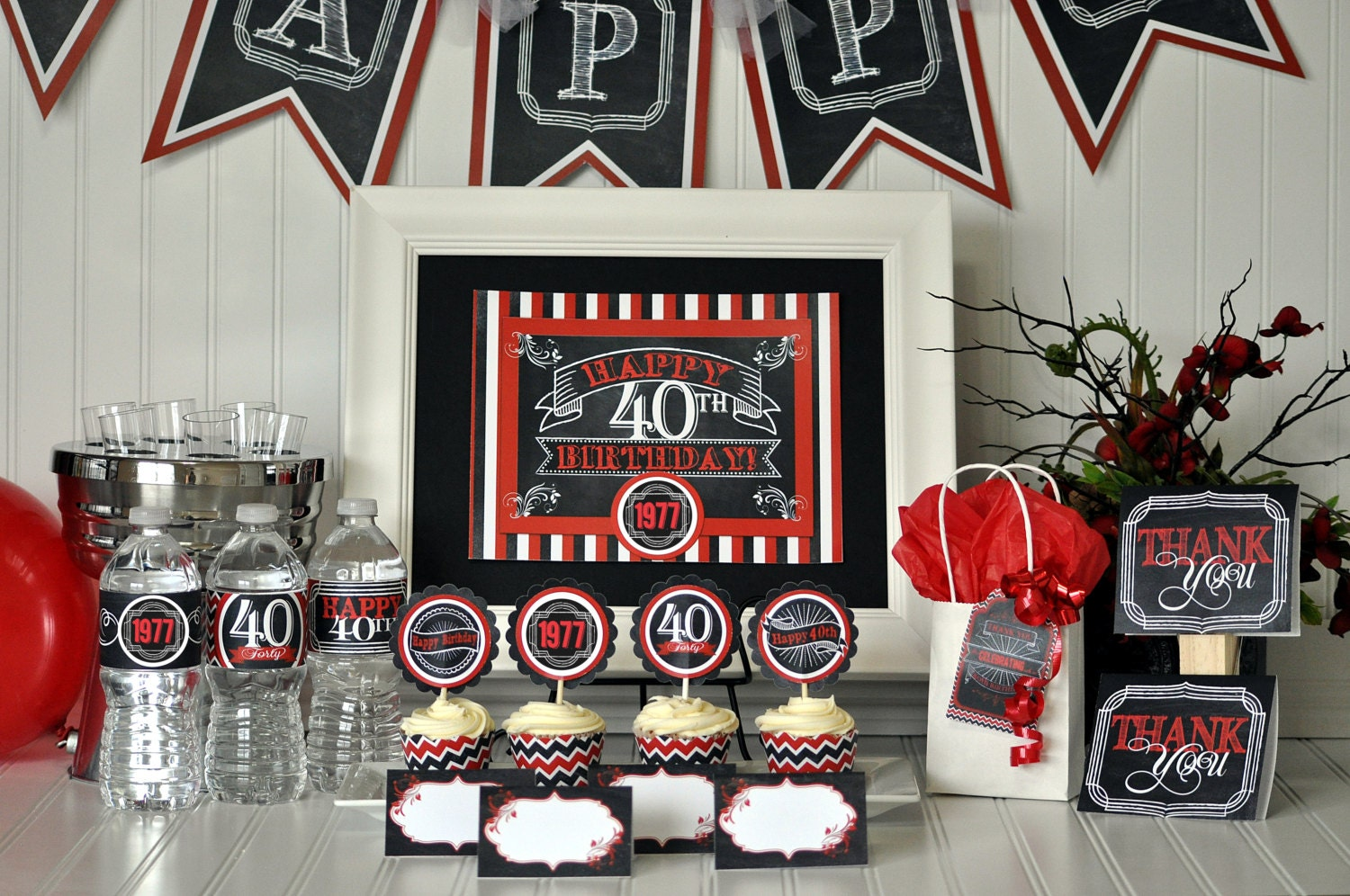 40th birthday party package 40th birthday decorations 40th for 40th birthday party decoration