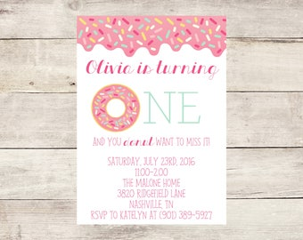 Pink Sprinkle Donut Birthday Party