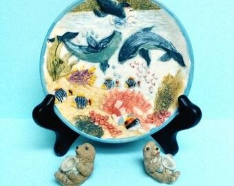 Ocean décor whales sea otters sea life fish ocean life home decor ocean lovers