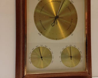Airguide Weather Station Instruments in Oak Frame
