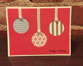 Ornament Happy Holidays Christmas Card