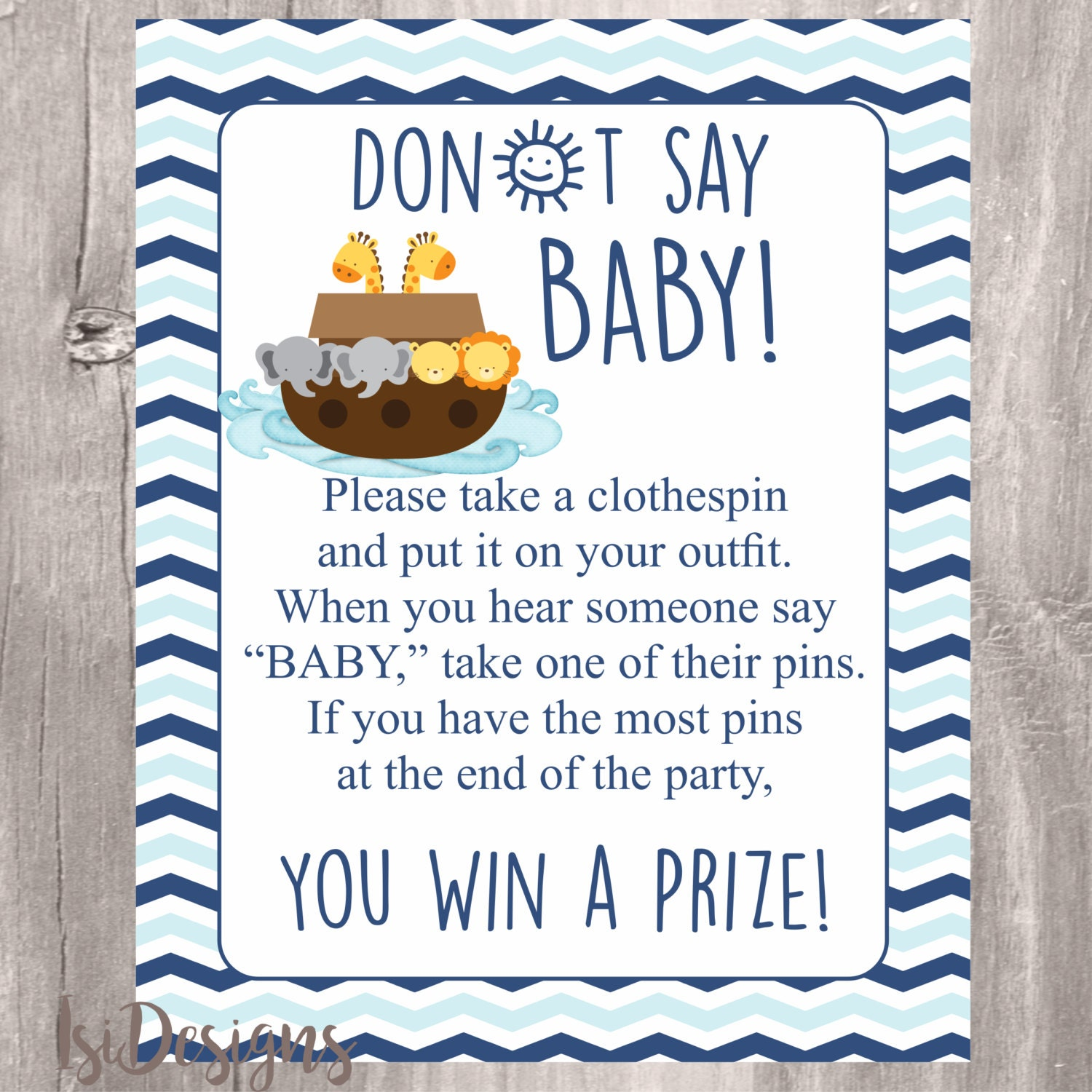 This is a photo of Intrepid Don't Say Baby Printable