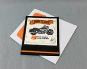 Hand Stamped Motorcycle Birthday Card - Masculine Motorcycle Card - Stampin' Up! Born to Ride Birthday Greeting Card