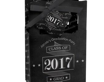 Graduation Favor Boxes - Personalized Graduation Party Supplies - Graduation Treat Box - Set of 12 Graduation Cheers Favor Boxes