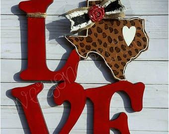 Love with Cheetah Print Texas