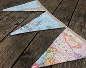 Image of 10 Flag Map Bunting // World // Travel // Vintage