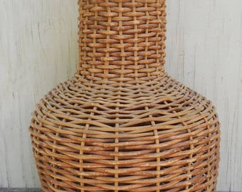 Large Rustic French Country Standing Twig Basket!