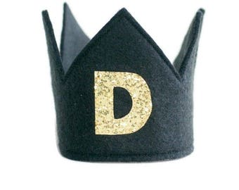 First Birthday Crown -  1st Birthday Crown Boy - Birthday Boy outfit - First Birthday Hat - Cake smash outfit boy - Birthday boy crown
