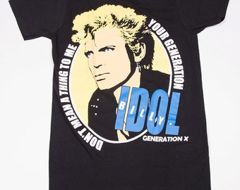 Billy Idol Vintage Punk Tshirt