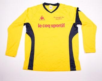 Vintage Le Coq Sportif 90s Yellow Jersey Tshirt