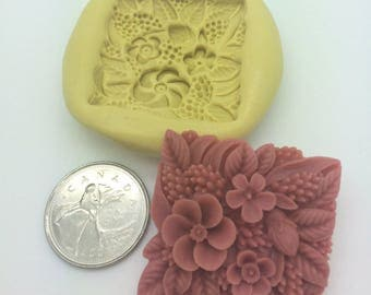 Large Flower square Silicone Mold