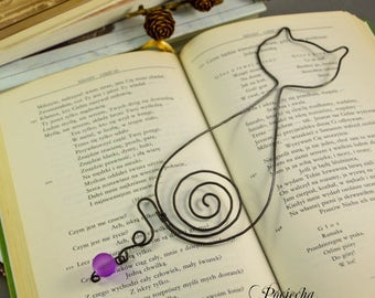 Bookmark Cat Vincent - metal bookmark,bohemian bookmark,wire wrapped,gift for her,him,personalized bookmark,booklover,cats,cat,romantic gift