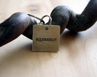 Squirrel!!! - Funny Pet Tag - Pet Tags - Pet ID Tag - Dog Tag - Dog ID Tag - Custom Dog Tag - Personalized Dog Tag - Custom Tag