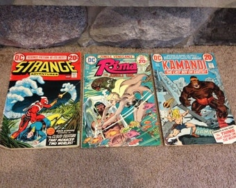 Dc Comics Lot of 3  , Strange Adventures , Rima the Jungle Girl , Kamandi the Last boy on earth