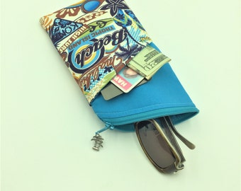 Sunglass Case, Eyeglass Case in Surfs Up - Made in Maui