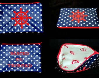 personalized embroidered zippered pouch or bag pouch