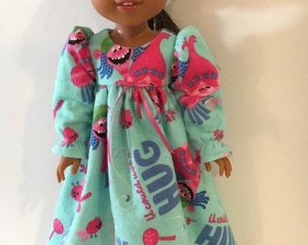 """Warm and snuggly flannel nightgown!  Fits 14.5"""" dolls."""