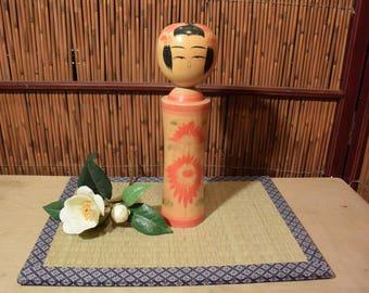 Vintage Tall Japanese Kokeshi Doll 10 Inches