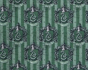 Slytherin, Harry Potter Digitally Printed Cotton Woven Fabric