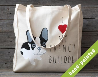 french bulldog gift - tote bag / frenchie tote bag/ french bull dog / french bulldog art/ french bulldog art / frenchie art