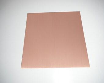 """6"""" x 6"""" copper sheet  ( 24gauge, 20 gauge, 16 gauge)"""