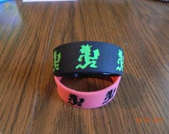 New-  INSANE CLOWN POSSE Hatchetman rubber wristbands (2-piece set) one of each color