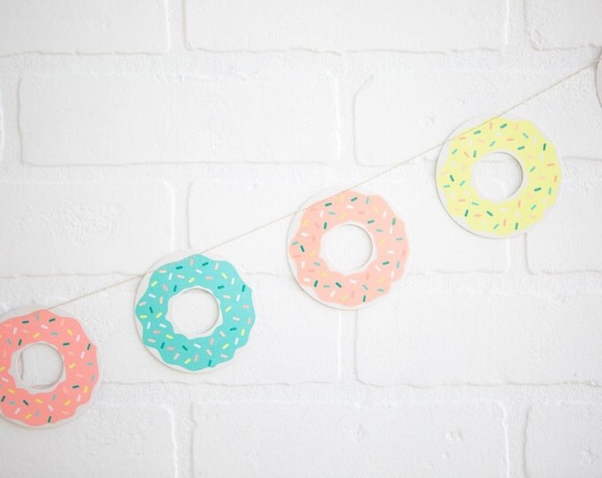Donut Banner 8 Feet long, Donut Party Banner, NEP404 Donut Birthday, Donut Decor, Donut Cake Banner, Doughnut Party Banner, Doughnut Station