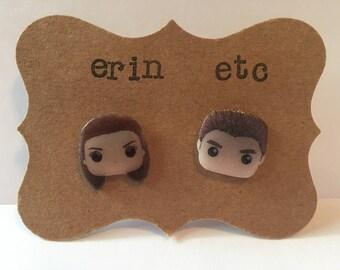 Handmade Plastic Fandom Earrings - Twilight - Bella & Edward