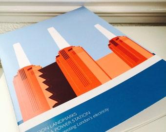 Battersea Power Station / A5 Notebook / London Landmarks