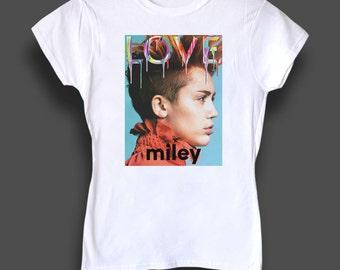 Miley Cyrus LOVE women's tshirt