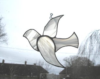 Suncatchers etsy uk stained glass dove suncatcher white dove dove of peace holy spirit glass negle Gallery
