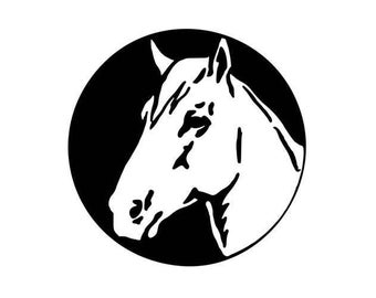 Beautiful Horse Sketch - Di Cut Decal - Home/Laptop/Computer/Phone/Car Bumper Sticker Decal