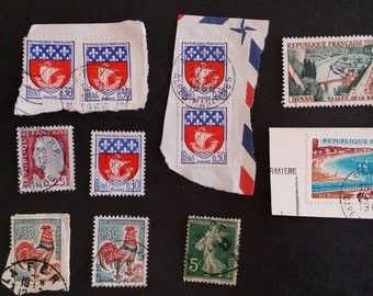 France Vintage 1960's Postage Stamps - FREE DOMESTIC SHIPPING