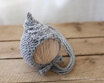 Nemo Fishtail Newborn Bonnet, Cable Newborn Bonnet, Pixie Newborn Bonnet, Knit Baby Hat, Newborn Hat, Cable Bonnet, Bonnet