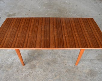 "Vintage Gordon Russell: Extendable ""Camden"" Dining Table in Mahogany and Indian Laurel"